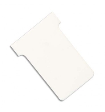 VALREX Etui de 100 fiches T NOBO en carton 170 g/m2 indice 3 blanc
