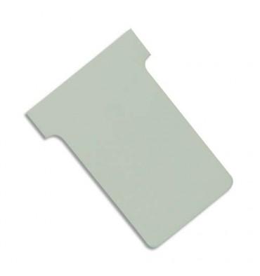 VAL-REX Etui de 100 fiches T NOBO en carton 170 g/m2 indice 2 gris