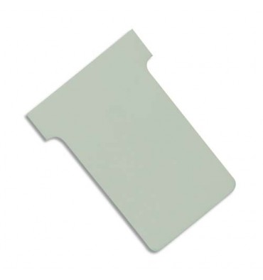 VALREX Etui de 100 fiches T NOBO en carton 170 g/m2 indice 2 gris