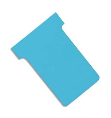 VAL-REX Etui de 100 fiches T NOBO en carton 170 g/m2 indice 2 bleu clair