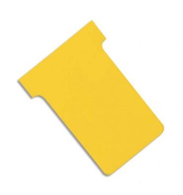 VALREX Etui de 100 fiches T NOBO en carton 170 g/m2 indice 2 jaune