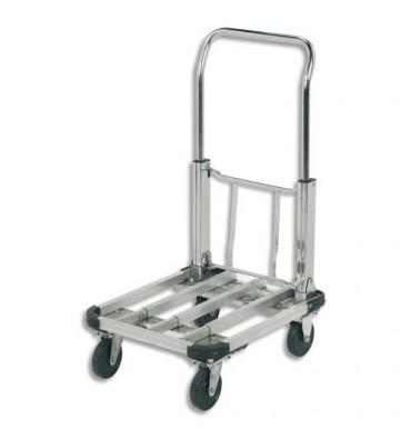 WONDAY Chariot pliable aluminium largeur 40 cm, longueur 50 à 72 cm