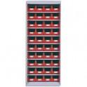 VISO Armoire vide en métal pour rangement sans porte capacité 40 bacs à bec 4L