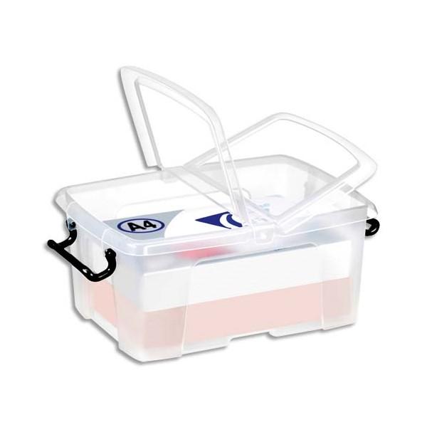 CEP Boîte de rangement Smart Box Strata avec couvercle clipsé transparent 12L (photo)