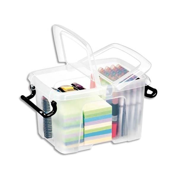 CEP Boîte de rangement Smart Box Strata avec couvercle clipsé transparent 6L (photo)