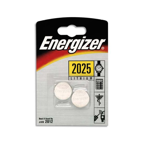 ENERGIZER Blister 2 piles CR2025 (photo)