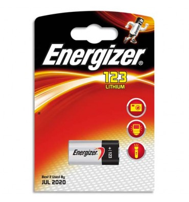 ENERGIZER Blister de 1 pile lithium 123AP