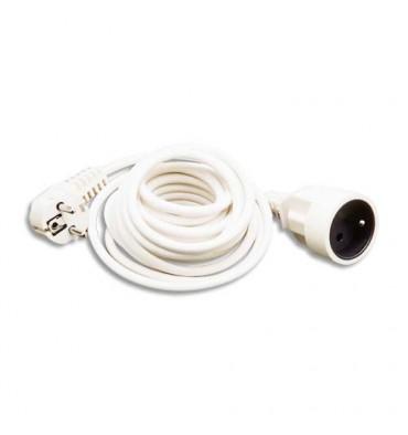 JPC Rallonge électrique lisse 5 m blanc
