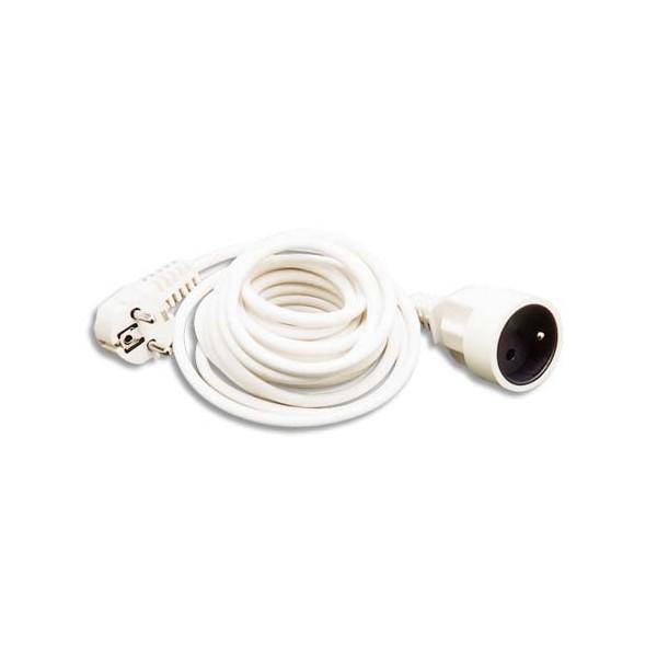 JPC Rallonge électrique lisse 3 m blanc