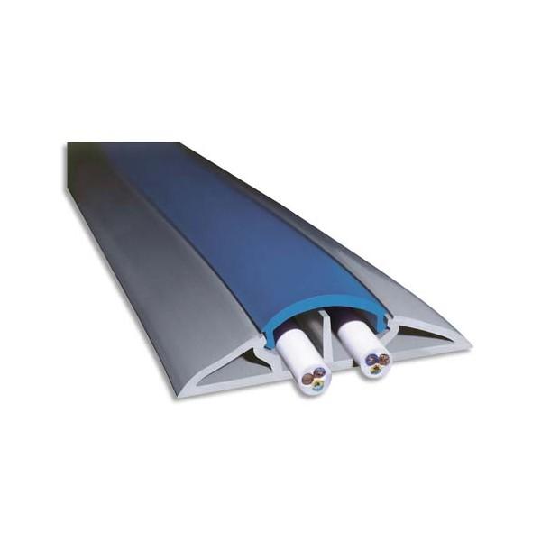 VISO Protège-câbles souple Gris longueur 3 mètres - 66 x 15 mm / ouverture 12 x 19 mm