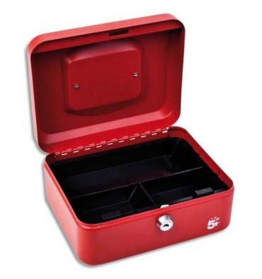 5 ETOILES Caisse à monnaie rouge - Dimensions : 20 x 9 x 16 cm