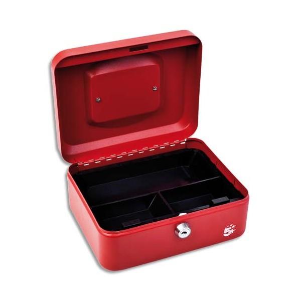 5 ETOILES Caisse à monnaie rouge - Dimensions : 20 x 9 x 16 cm (photo)