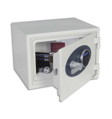 PHOENIX Coffre-fort ignifugé 1 heure acier serrure électronique Titan 16 litres 41 x 30,8 x 34,2 cm blanc FS1271E
