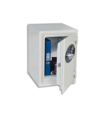 PHOENIX Coffre-fort ignifugé 1 heure acier serrure électronique Titan 25 litres 35,2 x 42 x 43,3 cm blanc