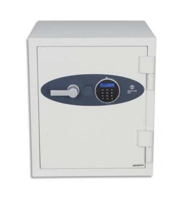 PHOENIX Coffre-fort ignifugé 1 heure acier serrure électronique Titan 36 litres 40,4 x 52,2 x 44 cm blanc FS1273E
