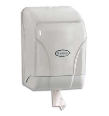 ROSSIGNOL Distributeur Oléane pour essuie-mains à dévidage central gris transparent couvercle blanc
