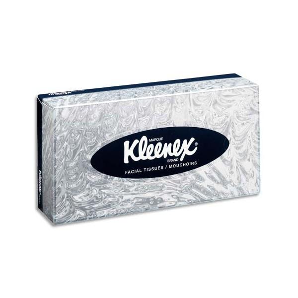 KLEENEX Boîte de 100 mouchoirs blancs 2 plis avec indicateur de fin de boîte