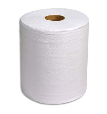 HYGIENE Lot de 2 bobines d'essuyage 800 formats blanc 2 plis