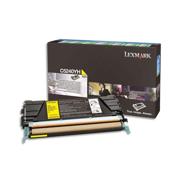 LEXMARK Cartouche toner laser return program jaune C544X1YG