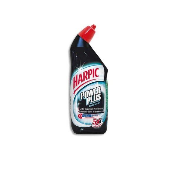 HARPIC Flacon de 750 ml Gel WC Harpic Power Plus surpuissant et désinfectant