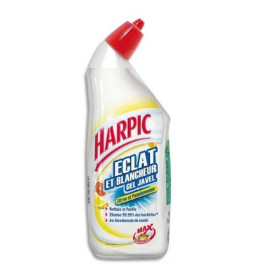 HARPIC Flacon de 750 ml Gel Javel WC parfum citron et pamplemousse