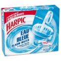 HARPIC Boîte de 2 Blocs pour cuvettes, colore l'eau en bleu, action anti-tartre, fraîcheur marine
