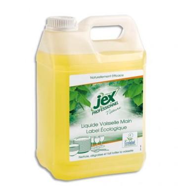 JEX Bidon de 5 litres de liquide vaisselle main, parfum citron vert