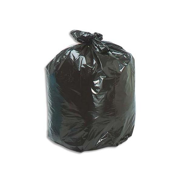 SACS POUBELLES Boîte de 500 Sacs-poubelle 30 litres noir 25 microns