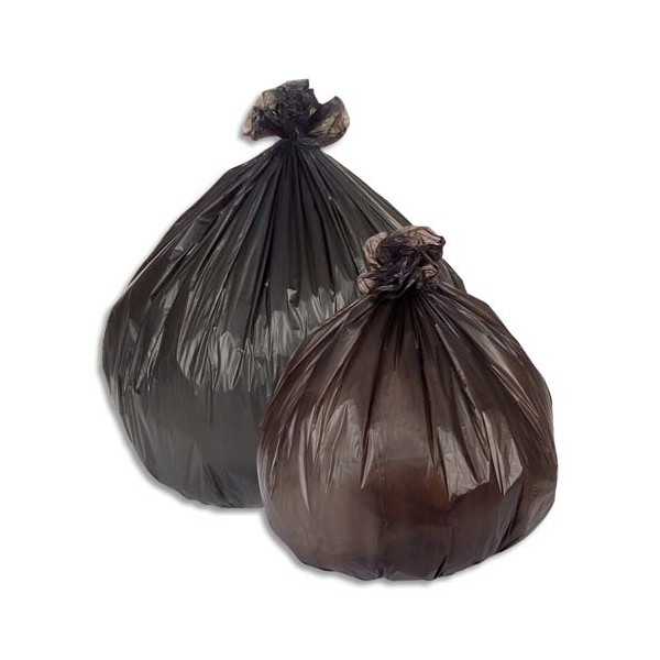 SACS POUBELLES Boîte de 500 Sacs-poubelle 100 litres noir 18 microns