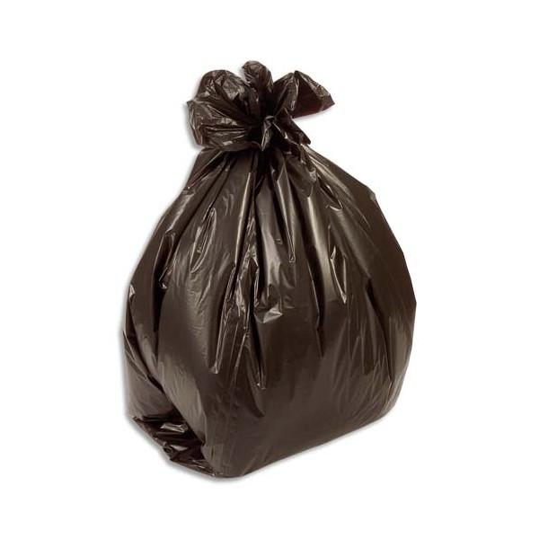 SACS POUBELLES Boîte de 500 Sacs-poubelle fin 50 litres noir 14 microns