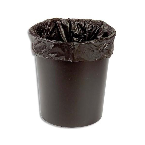 SACS POUBELLES Boîte de 500 Sacs-poubelle 30L noir 10 microns