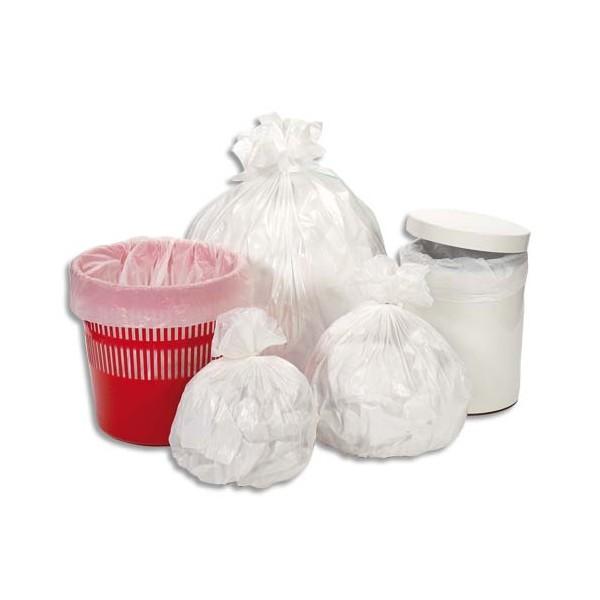 SACS POUBELLES Boîte de 500 Sacs-poubelle 50 litres blanc 30 microns