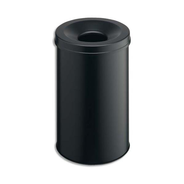 DURABLE Corbeille à papier métal avec étouffoir 30 L noir
