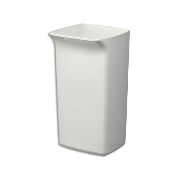 DURABLE Poubelle plastique carrée Durabin Square 40 litres blanche 32 x 36 x 59 cm