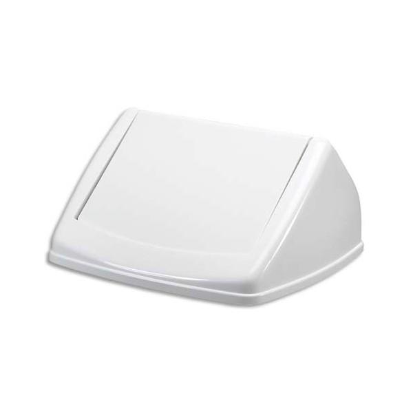 DURABLE Couvercle basculant pour poubelle Durabin Square 40 blanc
