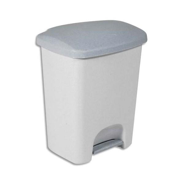 RUBBERMAID Collecteur gris luna 25 litres avec pédale