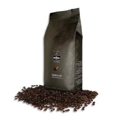 MIKO CAFE Paquet de 1kg de café en grain Emeraude 80% d'Arabica et 20% de Robusta