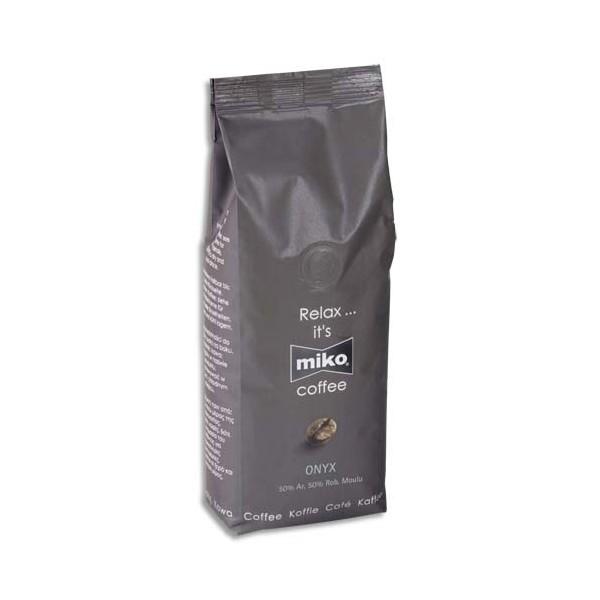 MIKO CAFE Paquet de 1kg de café moulu Onyx 50% Arabica et 50% Robusta