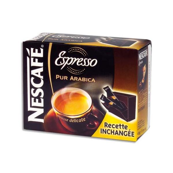 NESCAFE Boîte de 25 sticks de café instantané pur Arabica Espresso de 2g (photo)