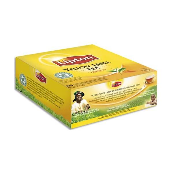 LIPTON Boîte de 100 sachets de thé Yellow Label (photo)