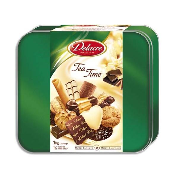 DELACRE Boîte de 1kg de biscuits Tea Time (photo)