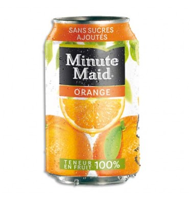 MINUTE MAID Cannette de jus d'orange de 33 cl