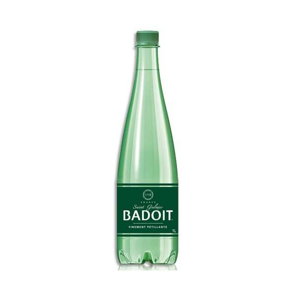 BADOIT Bouteille plastique d'eau pétillante de 1 litre (photo)