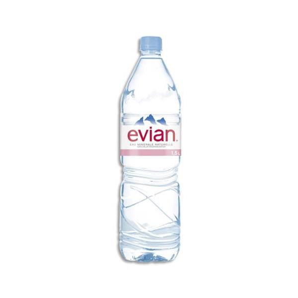 EVIAN Bouteille plastique d'eau de 1,5 litre (photo)