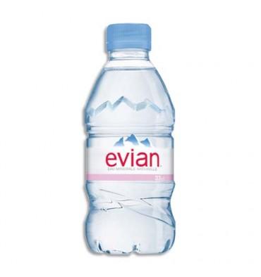 Audacieuse EVIAN Pack de 24 bouteilles plastiques d'eau de 33 cl | livraison AA-78
