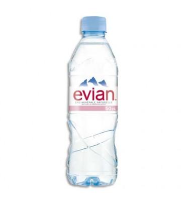 EVIAN Bouteille plastique d'eau de 50 cl