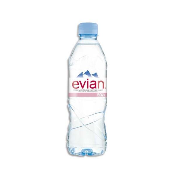 EVIAN Bouteille plastique d'eau de 50 cl (photo)