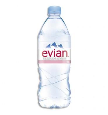 EVIAN Bouteille plastique d'eau de 1 litre