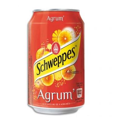 SCHWEPP'S AGRUM'S Canette de boisson gazeuse pétillante 33 cl