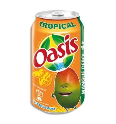 OASIS Tropical Canette de jus vitaminé de 33 cl
